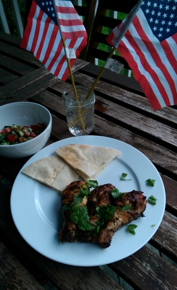 Chicken Ready to eat with side salad and Pita