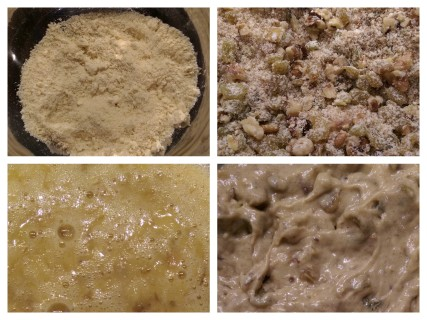 The 4 main stages of preparing the Cake Mix
