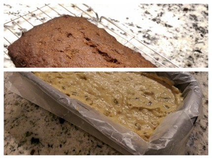 Banana Walnut & Honey Loaf - Before and After Baking