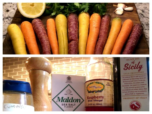 Beautiful Colorful Carrots & the Other Ingredients needed