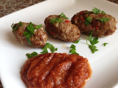 Lamb Kofta with Home made BBQ Sauce