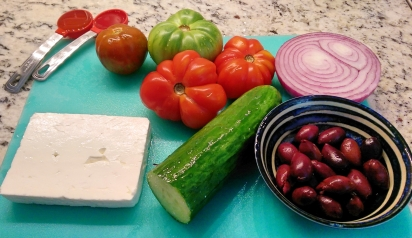 The key ingredients ready for chopping and dicing