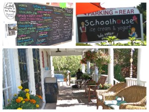 Menu & Scenes around the Schoolhouse