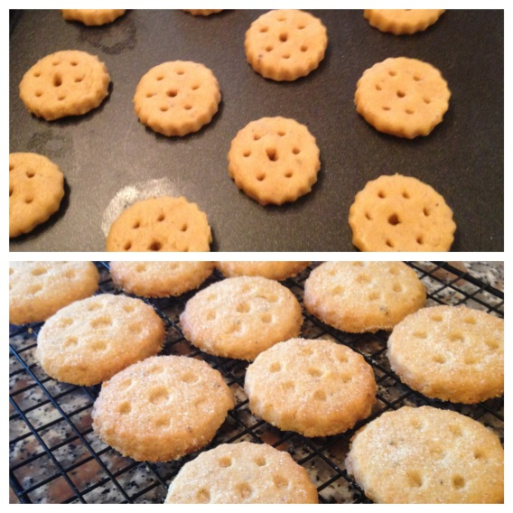 Top - before baking Bottom - fresh from the oven