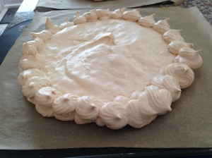 Meringue top ready for assembly