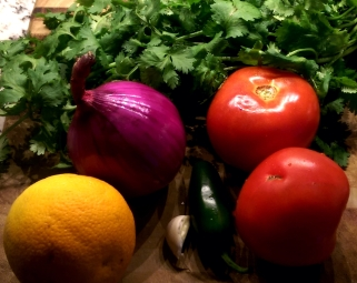 Ingredients for the Salsa