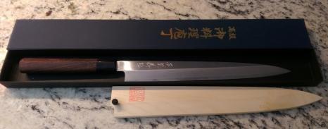 Yoshihiro Shiroko High Carbon Steel Kasumi Yanagi Sushi Chef Knife 10.5inch