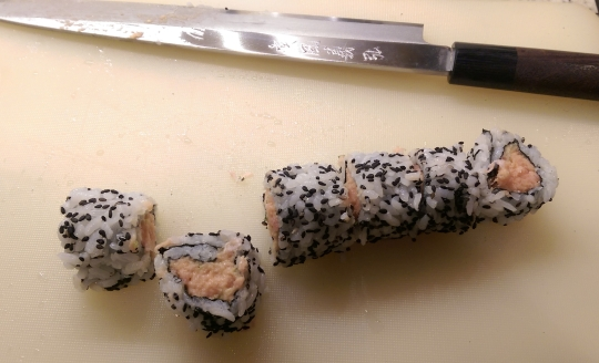 Sliced Spicy Tuna Maki