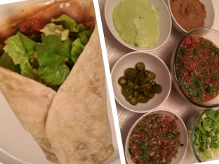 Chile Con Carne Burrito and Sides