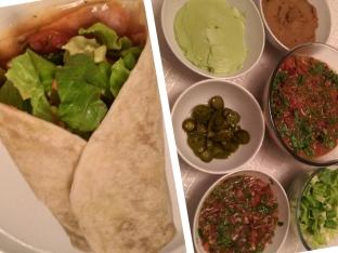 Chile Con Carne Burrito and Sides