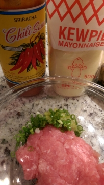 Ingredients for Spicy Tuna Mix