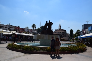 Kusadasi, Turkey fountain, the place to eat fish