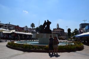 Kusadasi, Turkey fountain, the place to eat fish