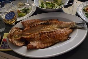 BBQ'd sea bass
