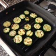 Courgettes chargrilling