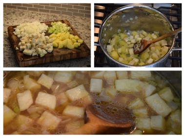 Chopping, sauteing and simmering - the stages of soup
