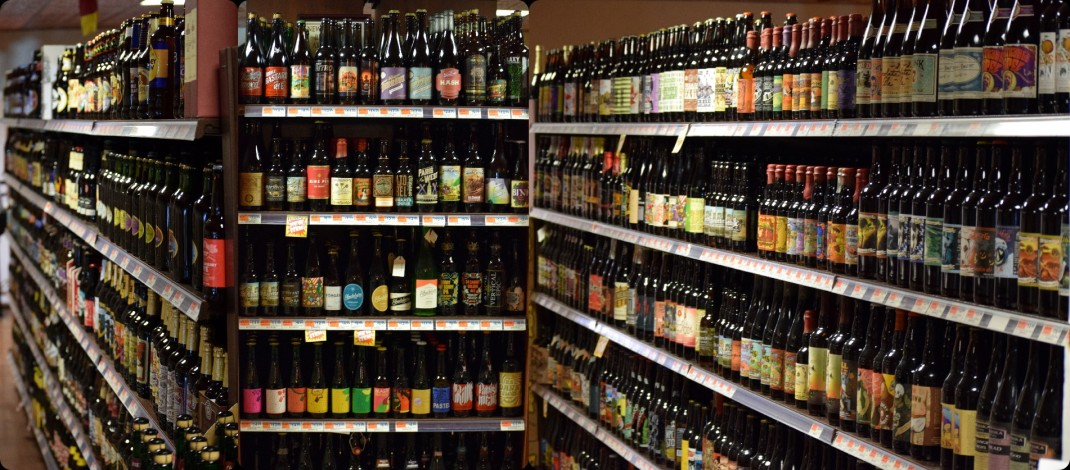 A sample of the huge selection of craft beer at DeCicco, Armonk NY