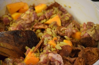 Lamb, Apricots and Squash in the pot