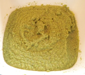 Broccoli cooked, mashed & ready to be soup
