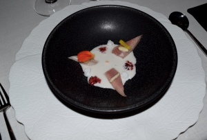 1: Smokey fish with child, coconut snow & milk