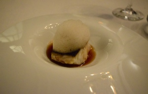 9: Sea Bass with a Savoury Foam