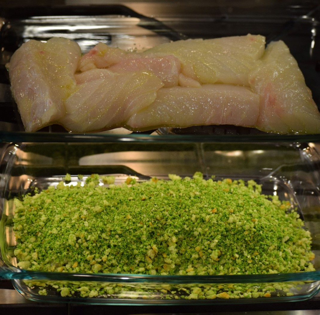 8. Fish naked and covered with crust to bake