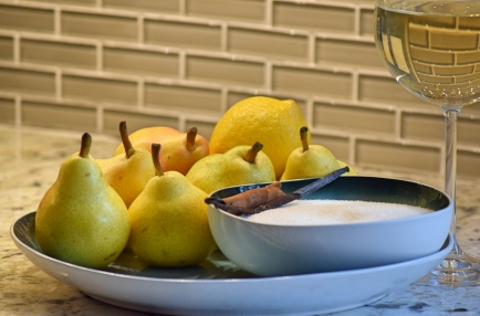 2. Ingredients including the beautiful Bartlett Pears
