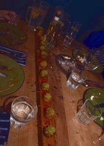 Duck Liver Profiteroles with Blood Orange & Pistachio