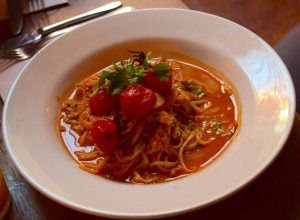 Portland Crab Linguini with Lobster Bisque