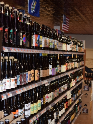 2. A small sample of the vast selection of over 3000 beers on shelf and tap at De Ciccos