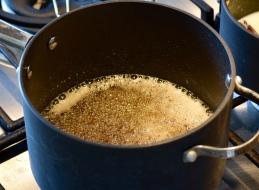 Sugar syrup boiling