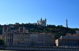 View of Old Lyon & the Basilica