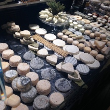 Fantastic display of cheese at Alain Hess