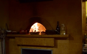 Woodburning oven at Camino