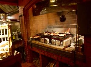 Downstairs Restaurant Kitchen -chicken cooking for staff dinner