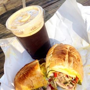 Speedy lunch: nitro Coffee & Cubana at Oakville Grocery