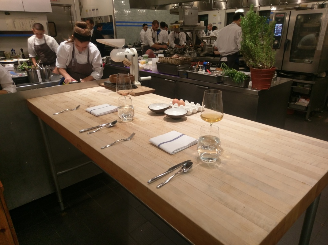 15. Our personal Chef's table in the kitchen
